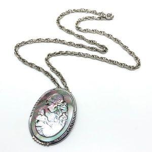 🆕Silver & Abalone Cameo Pin/Pendant
